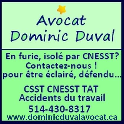 avocat CNESST - Dominic Duval
